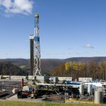 A new  study finds that methane leaks from three large regions of natural gas development -- including the Marcellus Shale, where this Tioga County, Pennsylvania rig was built -- are in line with federal estimates, about 1 percent of production.  CREDIT: Chuck Anderson, Earth and Environmental Systems Institute, Penn State