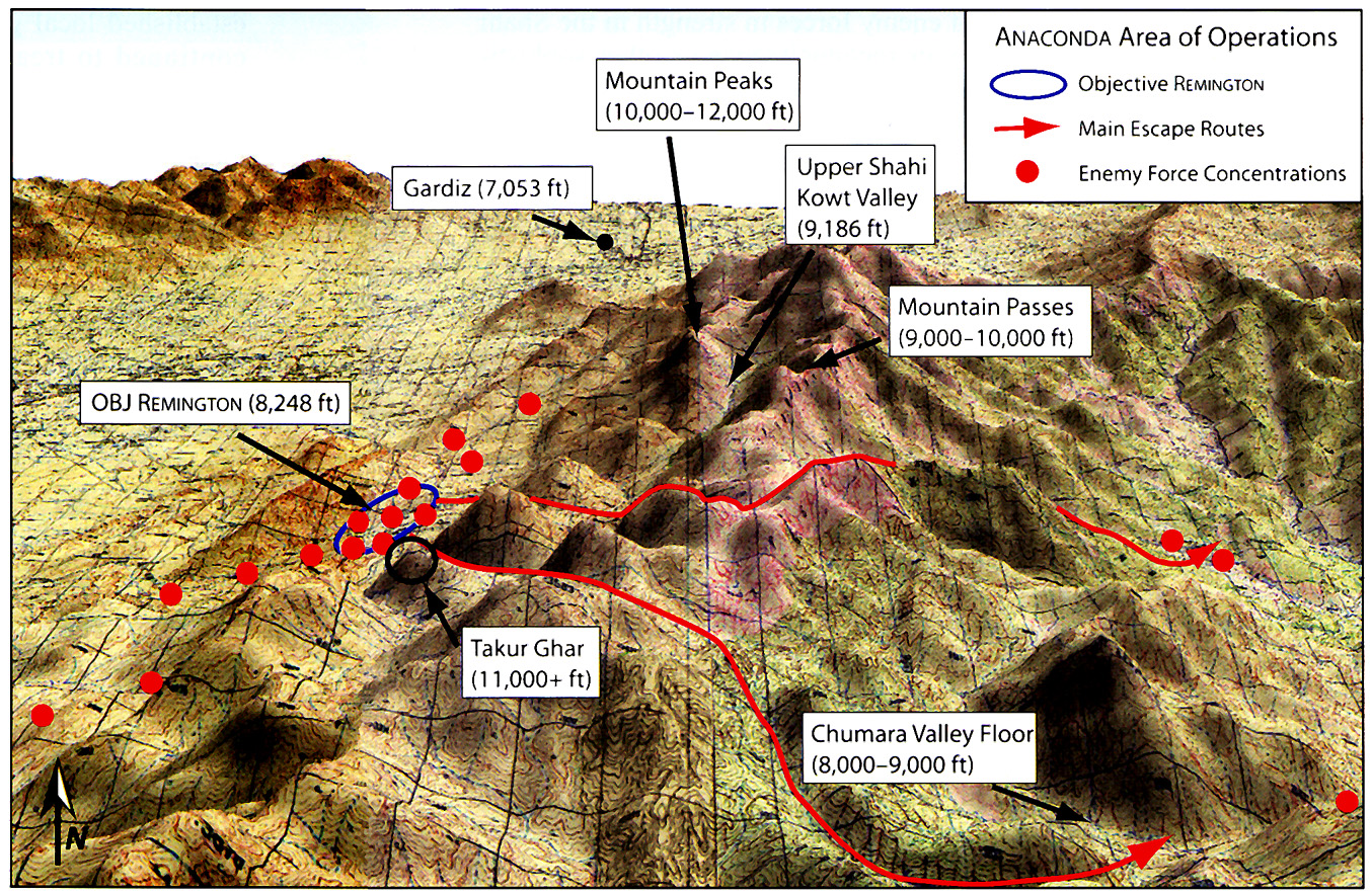 operation anaconda battle analysis Operation anaconda began before dawn on 2 march 2002 the battle area occupied about 60 square miles the terrain is rugged, and the peaks have many spurs and ridges.