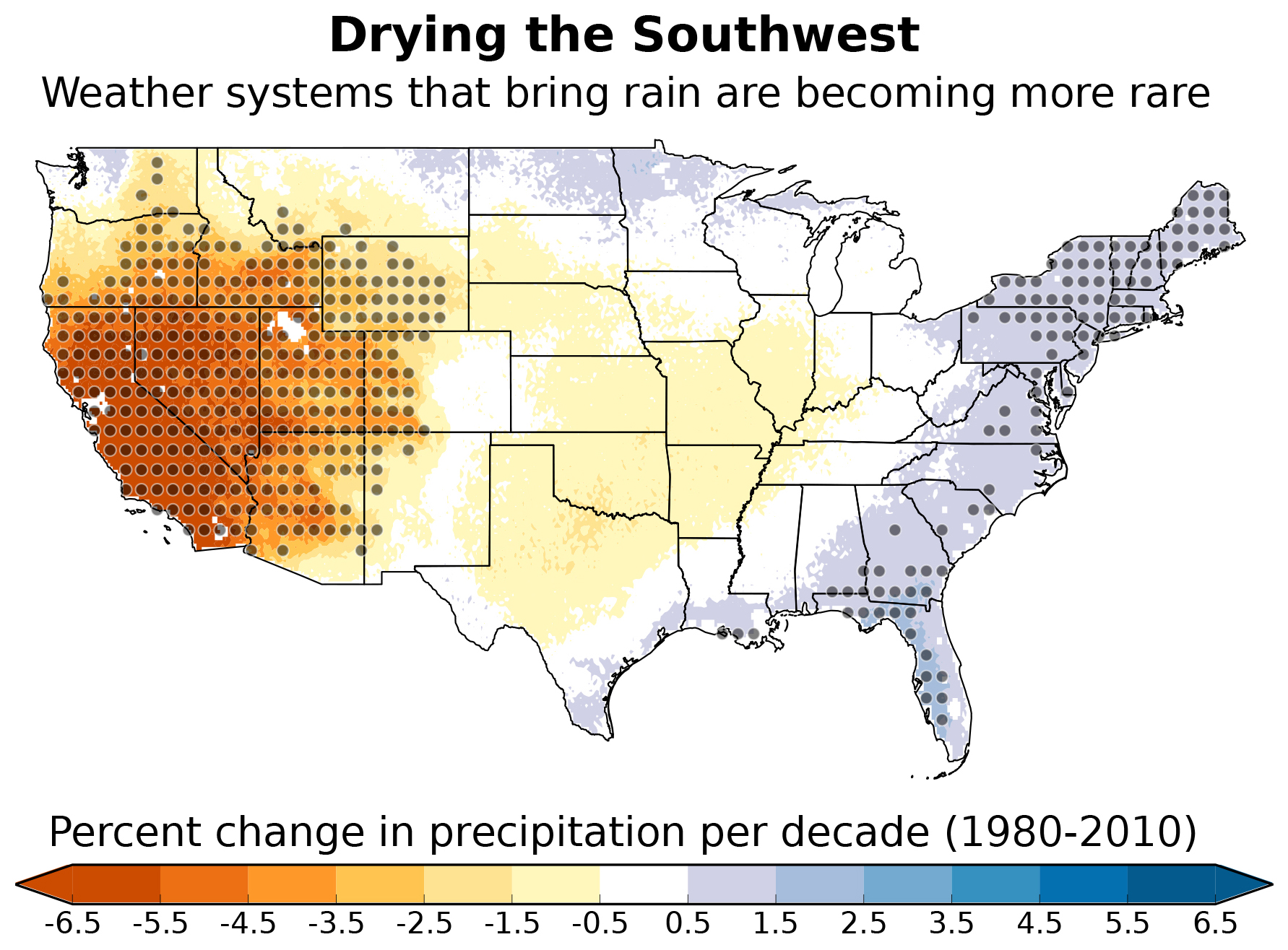 Southwestern Usa Map.Southwest Sliding Into A Drier Normal Weather Patterns That Bring