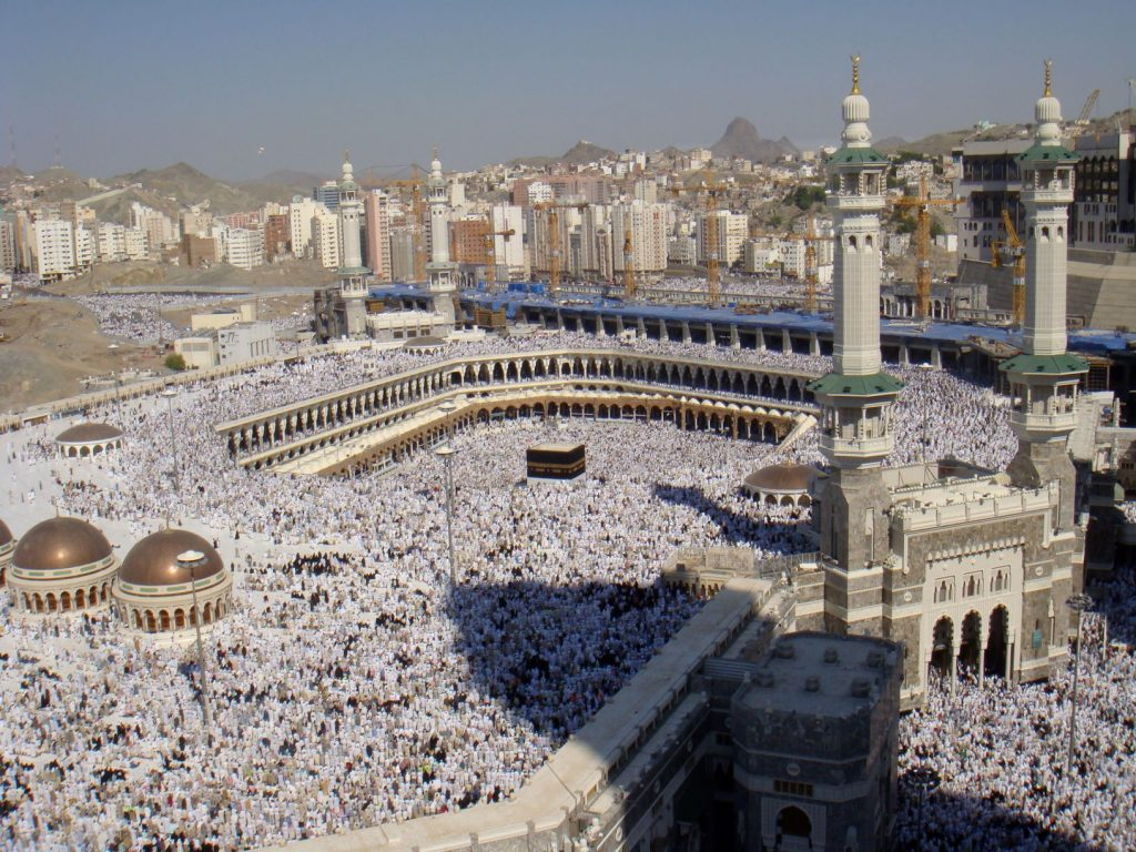 The Kaaba at al-Haram Mosque during the start of Hajj. Credit: Al Jazeera English - Al-Haram mosque, CC BY-SA 2.0