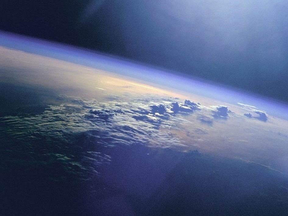 Earth's atmoshere seen from space. Credit, NASA