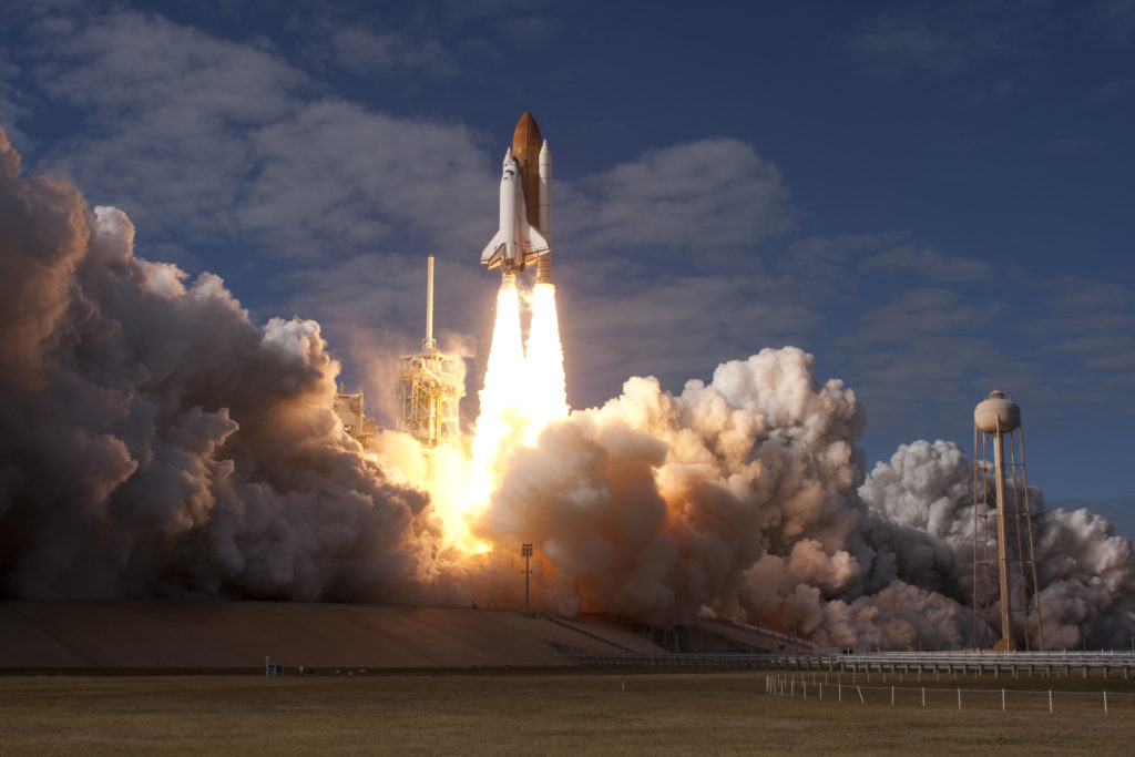 Space Shuttle Atlantis mission STS-129 launches from NASA's Kennedy Space Center.